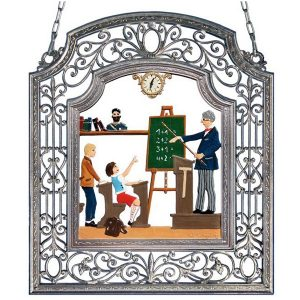 The Male Teacher Wall Hanging in Filigree Frame by Wilhelm Schweizer Image