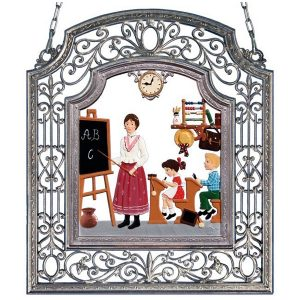 The Female Teacher Wall Hanging in Filigree Frame by Wilhelm Schweizer Image