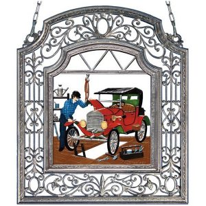The Mechanic Wall Hanging in Filigree Frame by Wilhelm Schweizer Image