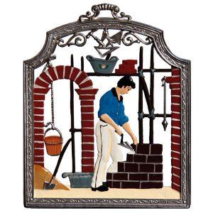 The Bricklayer Wall Hanging By Wilhelm Schweizer Image