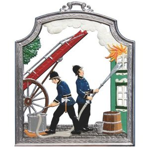 The Firefighters Wall Hanging by Wilhelm Schweizer Image