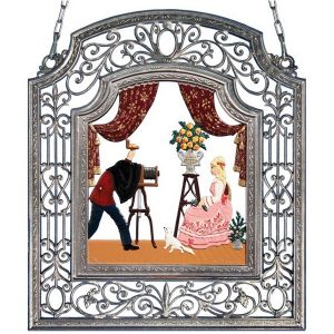 The Photographer Wall Hanging in Filigree Frame by Wilhelm Schweizer Image