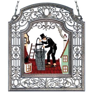 The Chimneysweep Wall Hanging in Filigree Frame by Wilhelm Schweizer Image