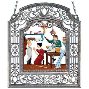 The Tailor Wall Hanging in Filigree Frame by Wilhelm Schweizer Image