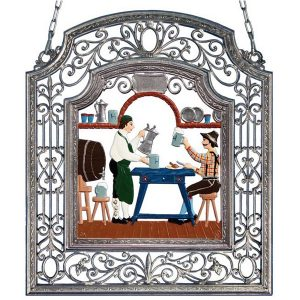 The Innkeeper Wall Hanging in Filigree Frame by Wilhelm Schweizer Image