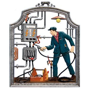 The Electrician Wall Hanging by Wilhelm Schweizer Image