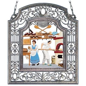 The Baker Wall Hanging in Filigree Frame by Wilhelm Schweizer Image
