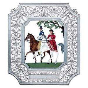 Horseback Riders Wall Hanging in Filigree Frame by Wilhelm Schweizer Image
