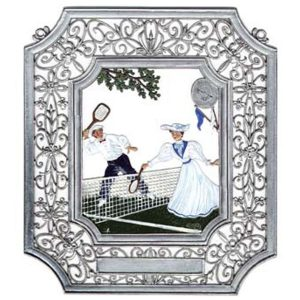 Tennis Wall Hanging in Filigree Frame by Wilhelm Schweizer Image