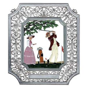 Golf Wall Hanging in Filigree Frame by Wilhelm Schweizer Image