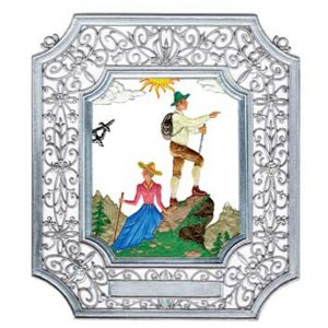 Hiking Wall Hanging in Filigree Frame by Wilhelm Schweizer Image