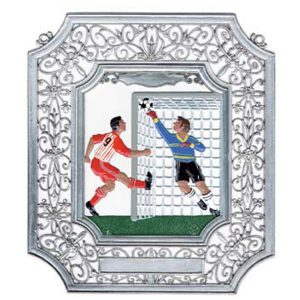 Soccer Wall Hanging in Filigree Frame by Wilhelm Schweizer Imagew