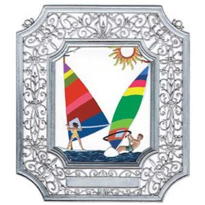 Wind Surfing Wall Hanging in Filigree Frame by Wilhelm Schweizer Image