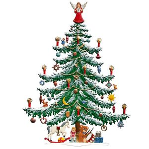 Large Decorated Christmas Tree by Wilhelm Schweizer Image