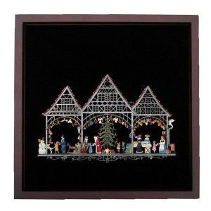 Christmas Market Framed Wall Hanging by Wilhelm Schweizer Image