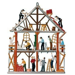 Building a House Wall Hanging by Wilhelm Schweizer Image