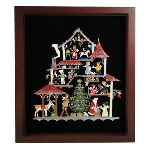 Christmas Workshop Framed Wall Hanging by Wilhelm Schweizer Image