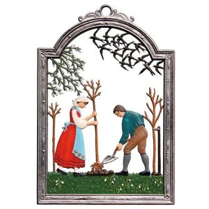 Planting A Tree Wall Hanging by Wilhelm Schweizer Image