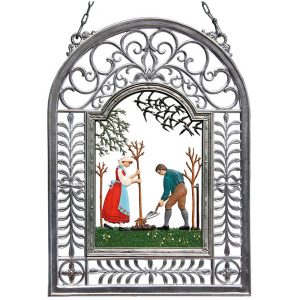 Planting A Tree Wall Hanging in Filigree Frame by Wilhelm Schweizer Image