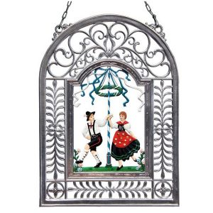Maypole Dance Wall Hanging in Filigree Frame by Wilhelm Schweizer Image