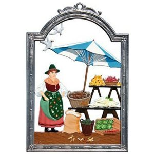 At the Market Wall Hanging by Wilhelm Schweizer Image