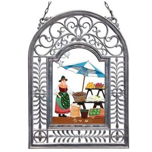 At The Market Wall Hanging in Filigree Frame by Wilhelm Schweizer Image