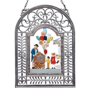 At The Fair Wall Hanging in Filigree Frame by Wilhelm Schweizer Image