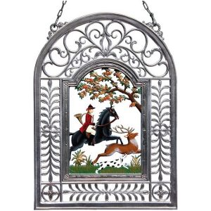 Hunting Season Wall Hanging in Filigree Frame by Wilhelm Schweizer Image