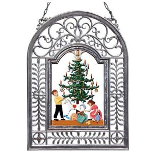 Christmas Tidings Wall Hanging in Filigree Frame by Wilhelm Schweizer Image