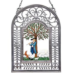 Spring Awakening Wall Hanging in Filigree Frame by Wilhelm Schweizer Image