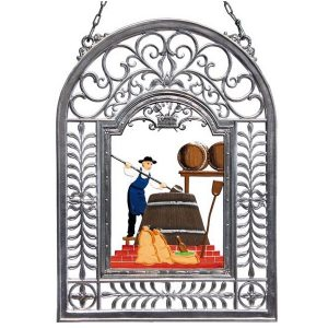 The Brewer Wall Hanging in Filigree Frame by Wilhelm Schweizer Image