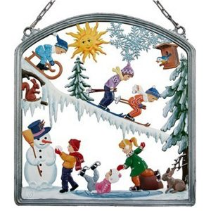 Fun In the Snow Wall Hanging by Wilhelm Schweizer Image