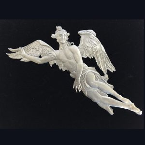 Angel Flying Wall Hanging by Wilhelm Schweizer Unpainted Image
