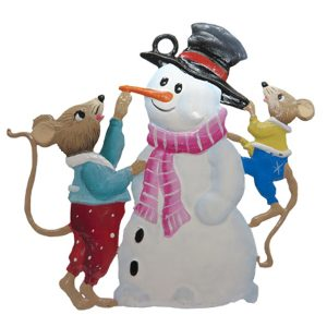 Mice with Snowman Ornament by Wilhelm Schweizer Image