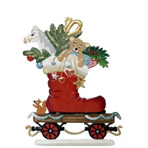 Train Car with Santa's Boot by Wilhelm Schweizer Image